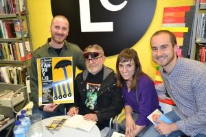 Laura, Victor y Filippo con Fernando Arrabal
